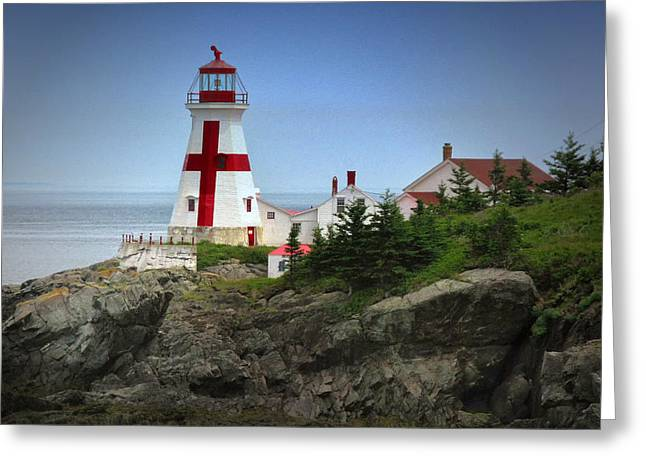 East Quoddy Lighthouse Greeting Card by Robert Wicker