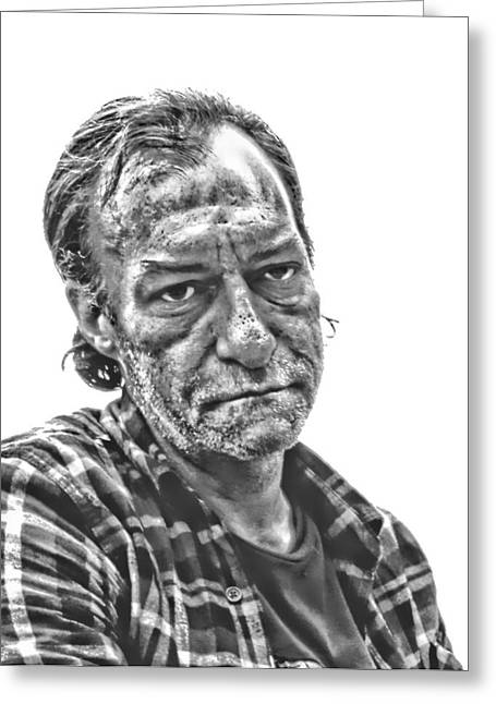 Edmonton Photographer Greeting Cards - East Side Jimmy  Greeting Card by Jerry Cordeiro