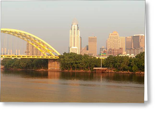 East Side Pano Greeting Card by Keith Allen