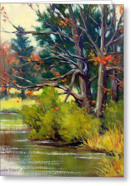 East Texas Autumn Greeting Card by Vickie Fears