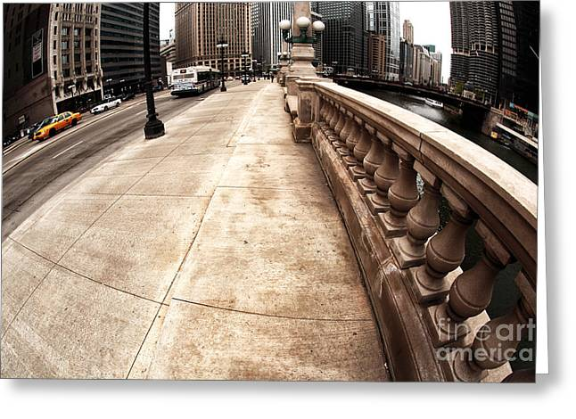 East River Drive Greeting Cards - East Wacker Greeting Card by John Rizzuto
