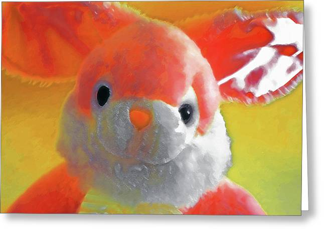 Button Nose Greeting Cards - Easter Bunny 1 Greeting Card by Steve Ohlsen
