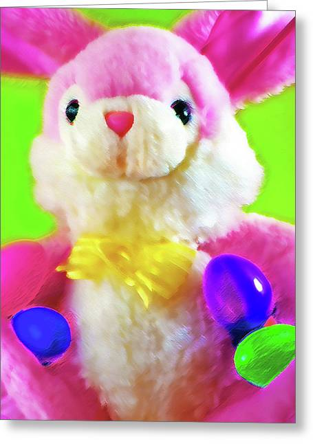 Button Nose Greeting Cards - Easter Bunny 2 Greeting Card by Steve Ohlsen