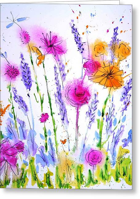 Wet Into Wet Watercolor Greeting Cards - Easter Egg Hunt Greeting Card by Chris Blevins