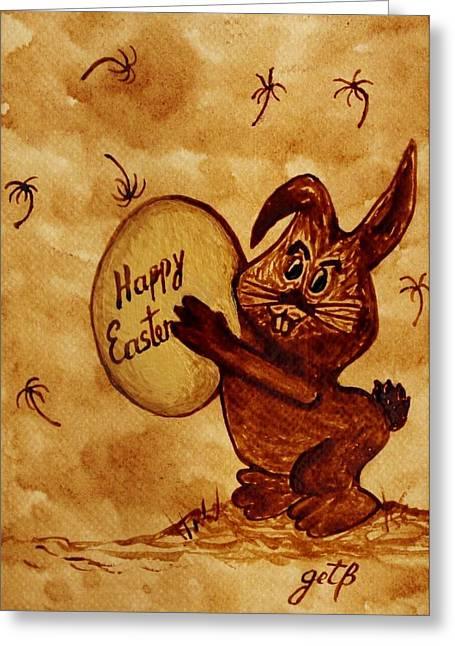 Golden Egg Greeting Cards - Easter Golden Egg For You Greeting Card by Georgeta  Blanaru