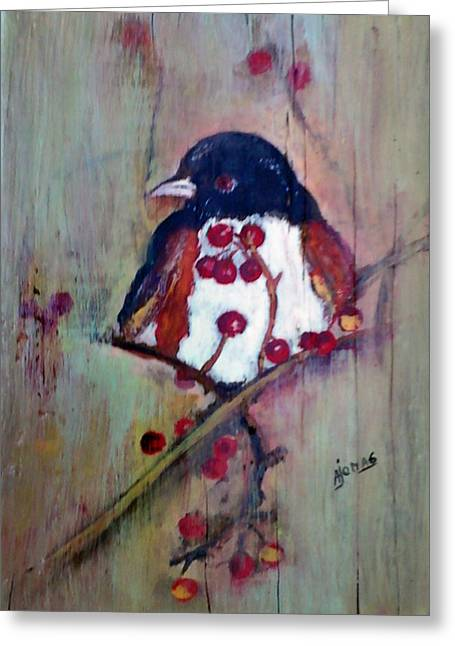 Easter Towhee Greeting Card by Amalia Jonas