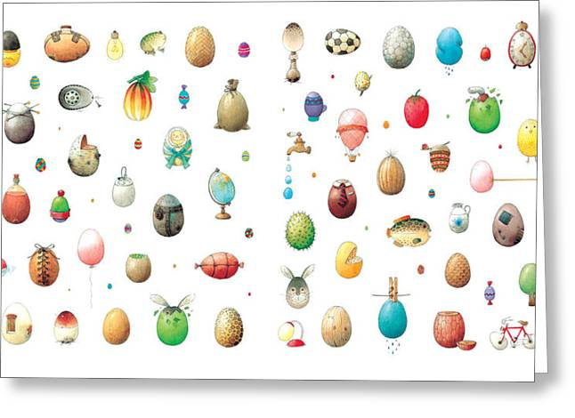 Egg Greeting Cards - Eastereggs Greeting Card by Kestutis Kasparavicius