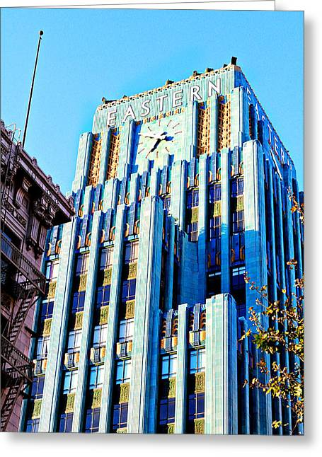 La Downtown Greeting Cards - Eastern Building Side Greeting Card by Ariane Moshayedi