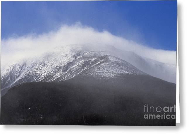 Blowing Snow Greeting Cards - Eastern Slopes of Mount Washington New Hampshire USA Greeting Card by Erin Paul Donovan