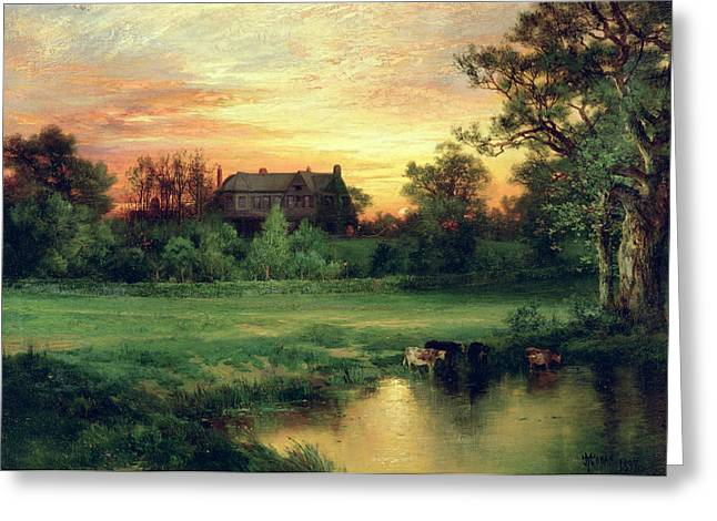 Masterpiece Paintings Greeting Cards - Easthampton Greeting Card by Thomas Moran