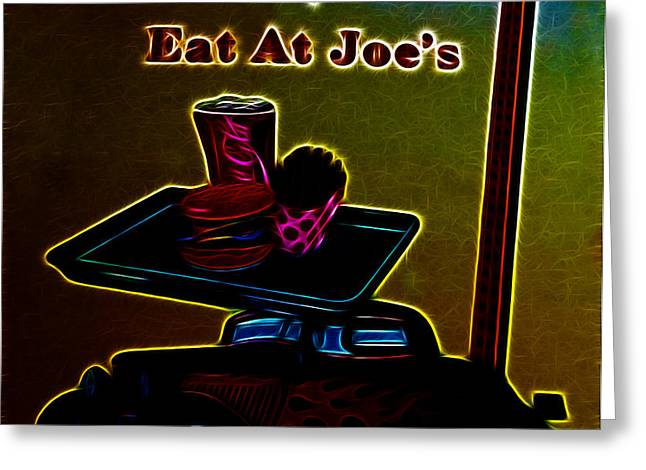 Eat at Joes Greeting Card by Cheryl Young