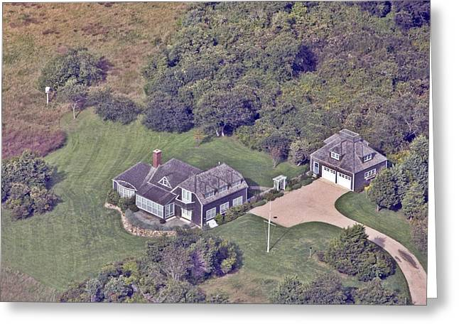 Pearson Aerial Greeting Cards - Eat Fire Spring Road Polpis Nantucket Island 2 Greeting Card by Duncan Pearson
