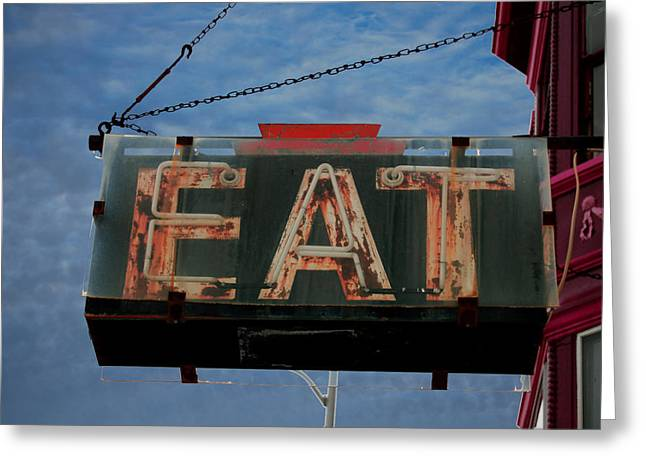 Best Sellers -  - Jame Hayes Greeting Cards - Eat Greeting Card by Jame Hayes