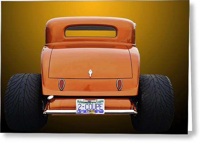 Deuce Coupe Greeting Cards - Eat My dust Greeting Card by Jim  Hatch