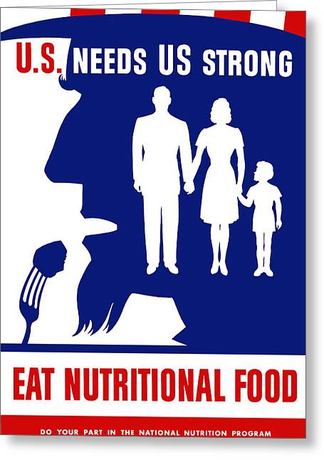 Nutrition Greeting Cards - Eat Nutritional Food Greeting Card by War Is Hell Store