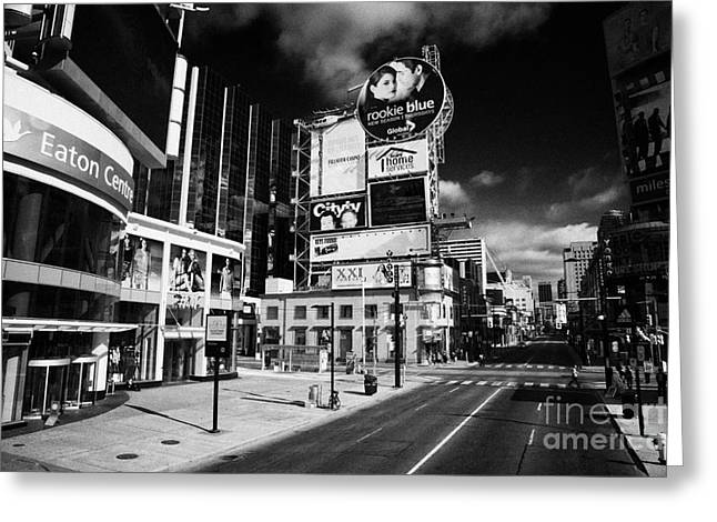 Hoarding Greeting Cards - Eaton Centre At The Intersection Of Yonge And Dundas At Yonge-dundas Square Toronto Ontario Greeting Card by Joe Fox
