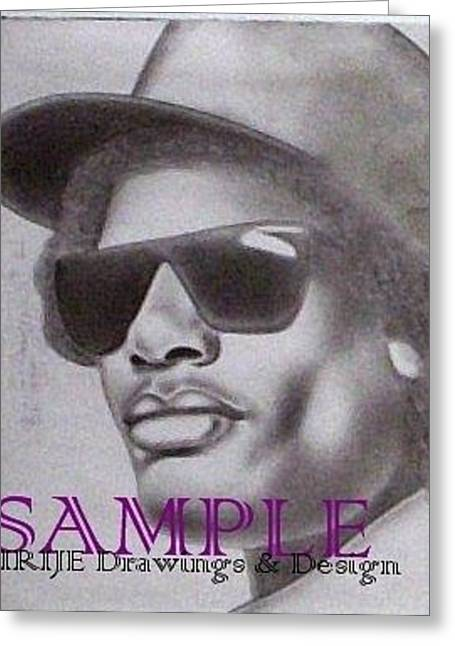 Refurbished Photos Drawings Greeting Cards - Eazy E Greeting Card by Rick Hill