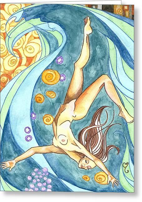 Ebb Greeting Card by Caroline Moses