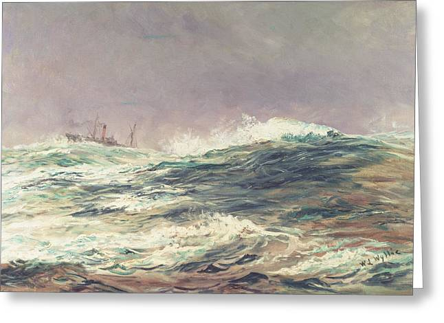 Lionel Greeting Cards - Ebb Tide Greeting Card by William Lionel Wyllie