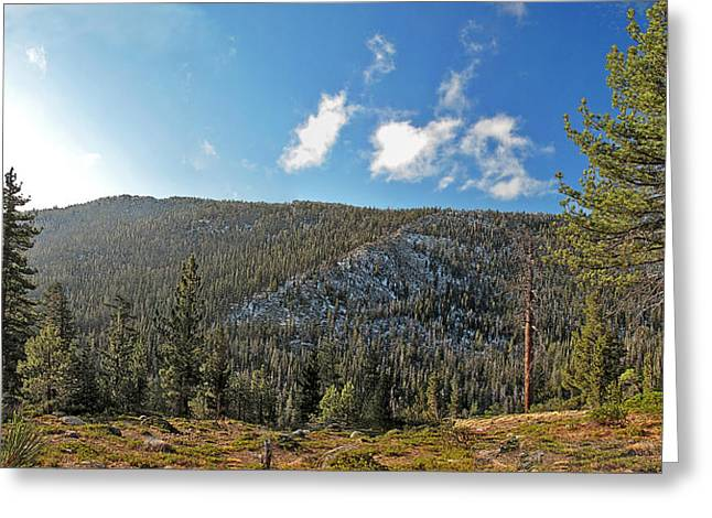 Ebbetts Pass Digital Art Greeting Cards - Ebbets Pass Sunrise Greeting Card by Larry Darnell