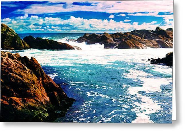 Seaside Digital Art Greeting Cards - Ebbing Tide Greeting Card by Phill Petrovic