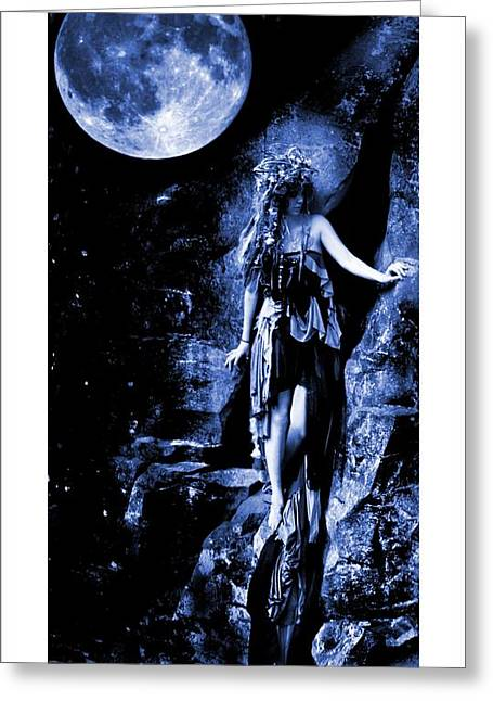 Pixy Greeting Cards - Echo In The Moonlight Greeting Card by Nyla Alisia