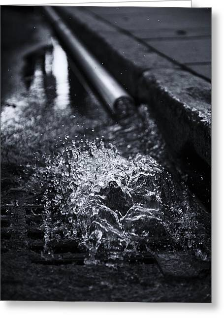 Drain Greeting Cards - Echo Spout Greeting Card by Andrew Kubica