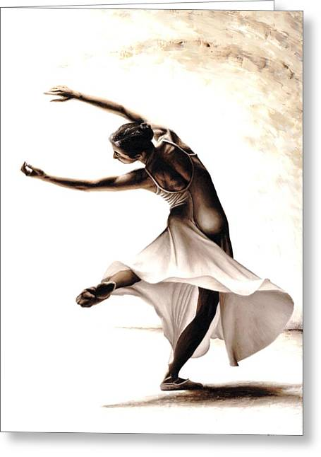 Looking Away Greeting Cards - Eclectic Dancer Greeting Card by Richard Young