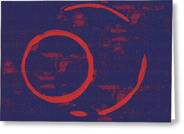 Abstract Modern Greeting Cards - Eclipse Greeting Card by Julie Niemela