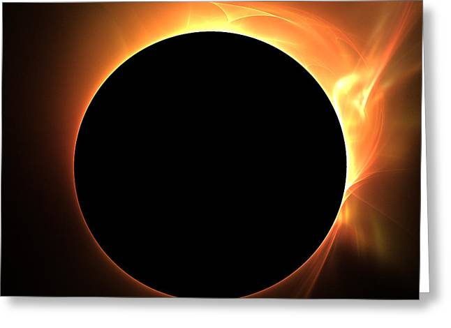 Fractal Eclipse Greeting Cards - Eclipse Greeting Card by Kim French