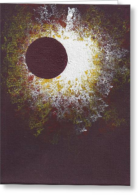 Solar Eclipse Paintings Greeting Cards - Eclipse One Greeting Card by Malissa Longo