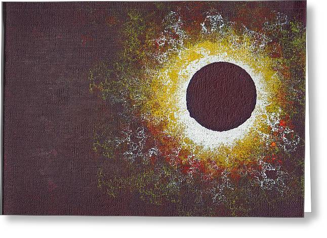 Solar Eclipse Paintings Greeting Cards - Eclipse Three Greeting Card by Malissa Longo