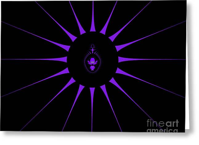 Fractal Eclipse Greeting Cards - Eclipse Greeting Card by Yvonne Johnstone