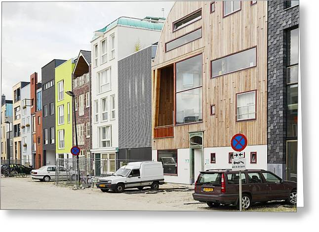 Land Reclamation Greeting Cards - Eco-housing On Reclaimed Land, Amsterdam Greeting Card by Colin Cuthbert