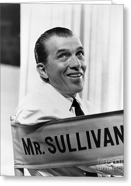 Columnist Greeting Cards - Ed Sullivan (1902-1974) Greeting Card by Granger