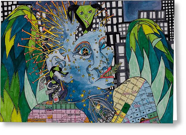 Civilization Mixed Media Greeting Cards - Eden Greeting Card by Eliza Furmansky