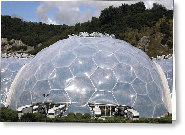 Geodesic Dome Greeting Cards - Eden Project Biome Greeting Card by Victor De Schwanberg