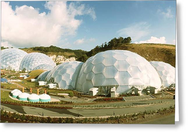 Geodesic Dome Greeting Cards - Eden Project Greeting Card by David Parker