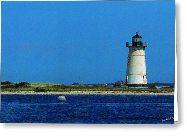 Vineyard Landscape Mixed Media Greeting Cards - Edgartown Light Painting Greeting Card by Turhan Von Brandon