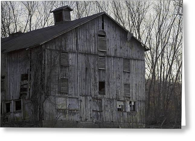 Barn Door Greeting Cards - Edge Of Evening Shabby Old Barn Greeting Card by John Stephens