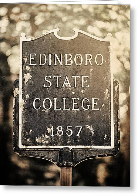 Pennsylvania State University Greeting Cards - Edinboro State College 1857 Greeting Card by Lisa Russo