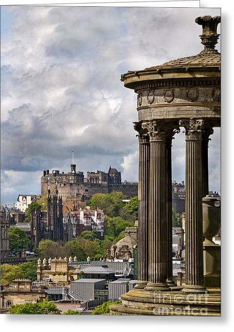 Castle Photographs Greeting Cards - Edinburgh Castle Greeting Card by Marion Galt