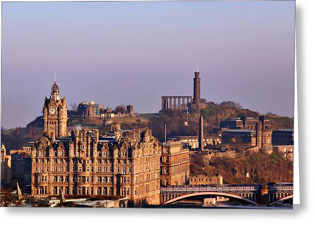 Edinburgh Scotland - A Top-Class European City Greeting Card by Christine Till