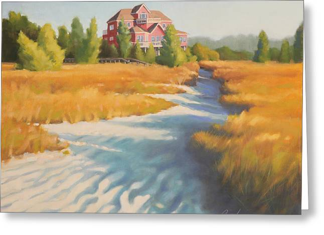Sand Dunes Paintings Greeting Cards - Edisto Beach House Greeting Card by Todd Baxter