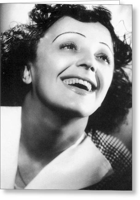 Singer Photographs Greeting Cards - Edith Piaf Greeting Card by Granger
