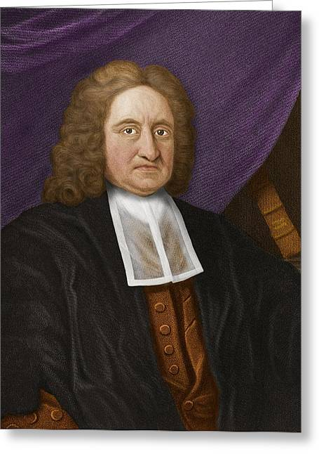 Diving Bell Greeting Cards - Edmond Halley, English Astronomer Greeting Card by Maria Platt-evans
