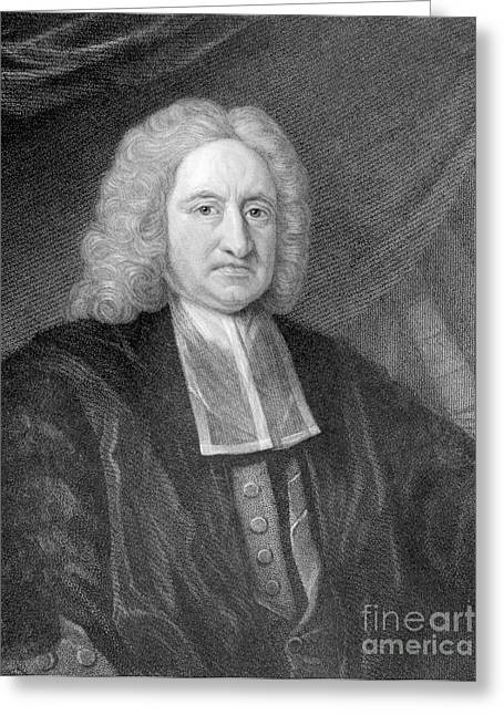 Halley Greeting Cards - Edmond Halley, English Polymath Greeting Card by Photo Researchers