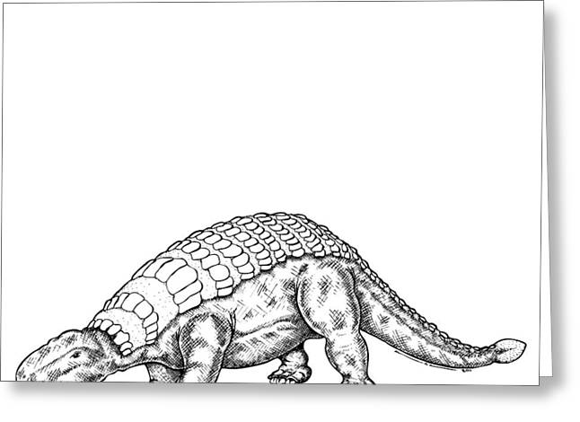 Imagination Drawings Greeting Cards - Edmontonia - Dinosaur Greeting Card by Karl Addison
