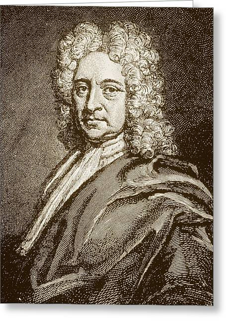 Halley Greeting Cards - Edmund Halley, English Astronomer (1656-1742) Greeting Card by Dr Jeremy Burgess.