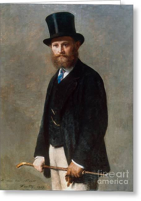 1867 Greeting Cards - Edouard Manet (1832-1883) Greeting Card by Granger